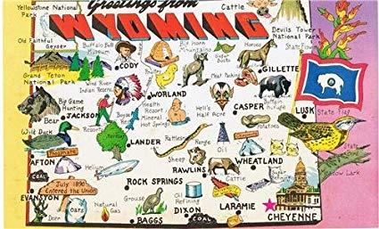 Fun Wyoming Map