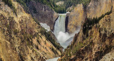 Yellowstone National Park waterfall